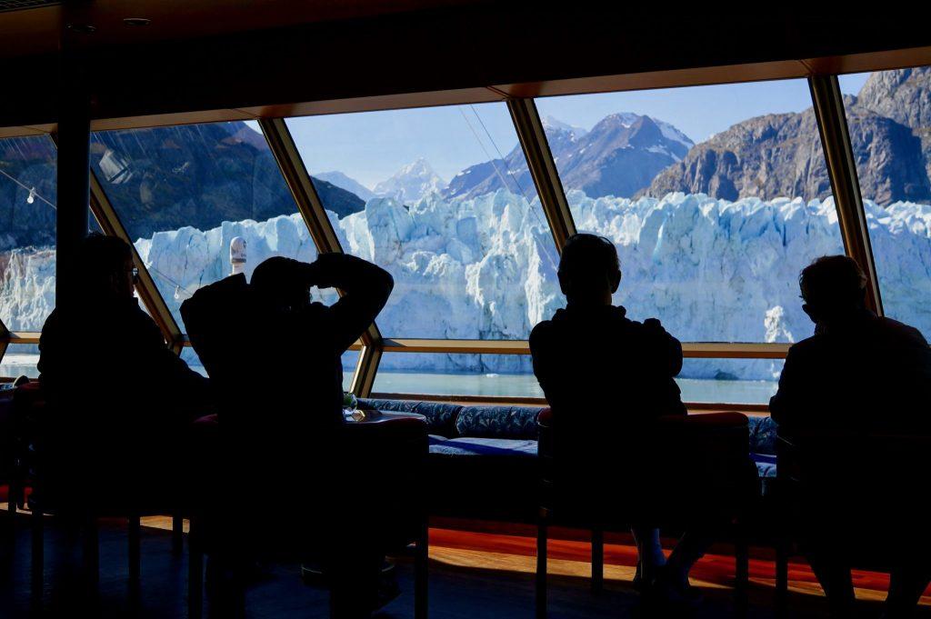 Enjoying Glacier Bay on a Cruise ship