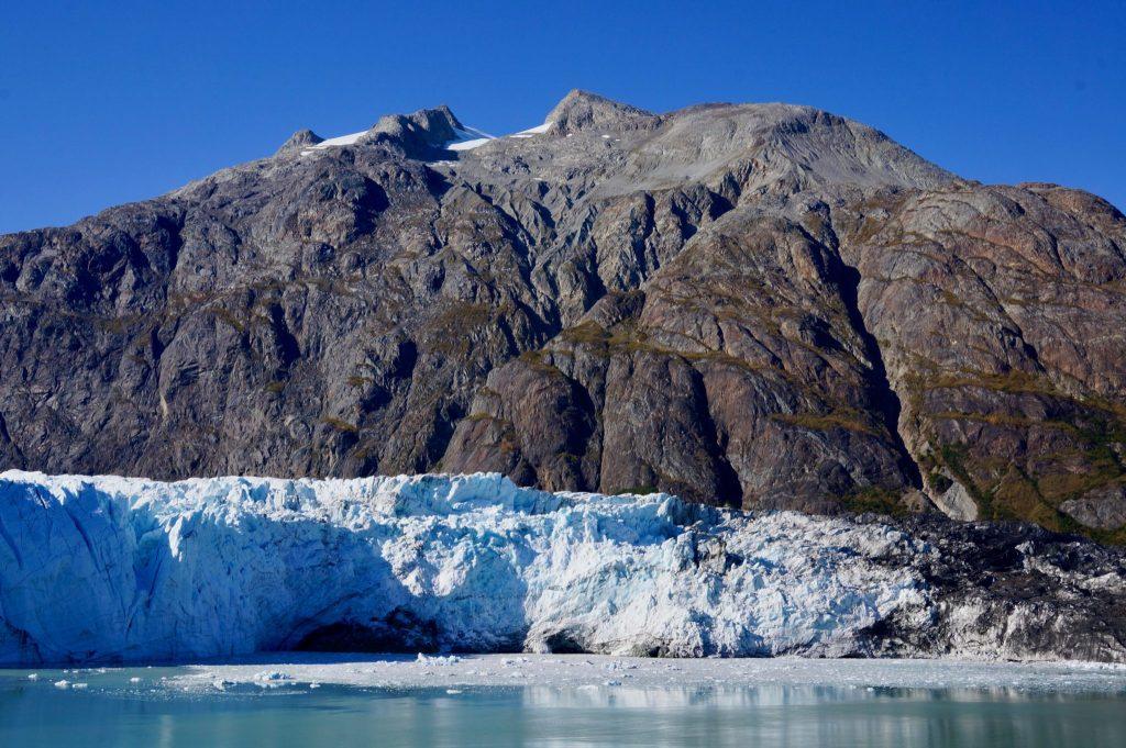 Glacier in Glacier Bay National Park Alaska