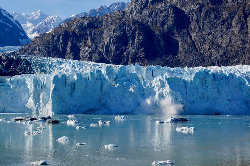 Margerie Glacier calving in Glacier Bay National Park Alaska