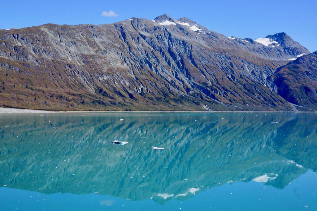 Mountains reflecting into Glacier Bay