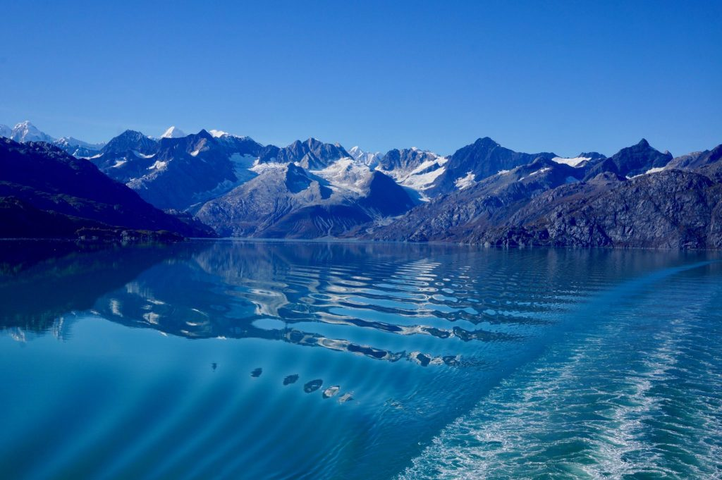Departing Glacier Bay National Park by cruise ship