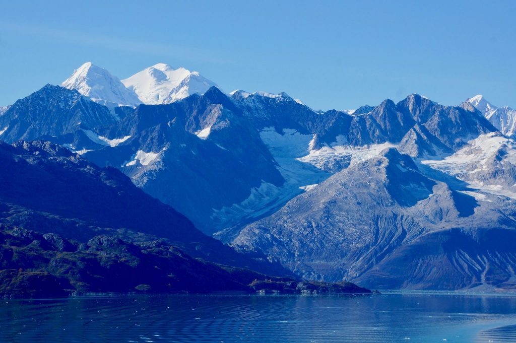 Glacier Bay mountains in Alaska