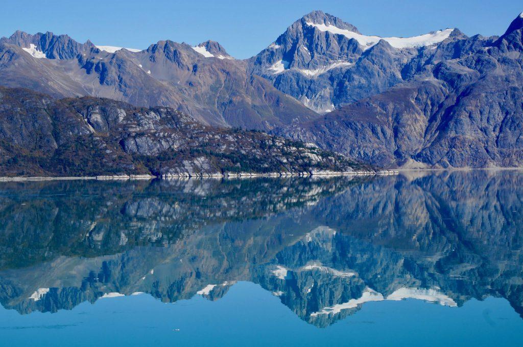 Mountains around Glacier Bay National Park Alaska