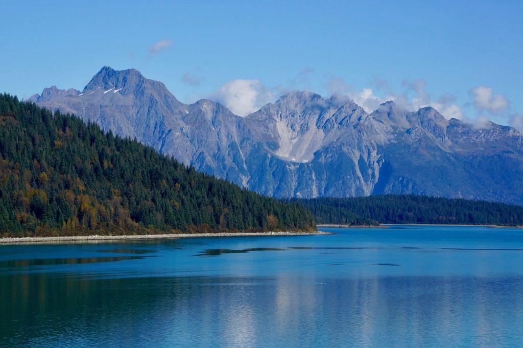 Alaska scenery in Glacier Bay