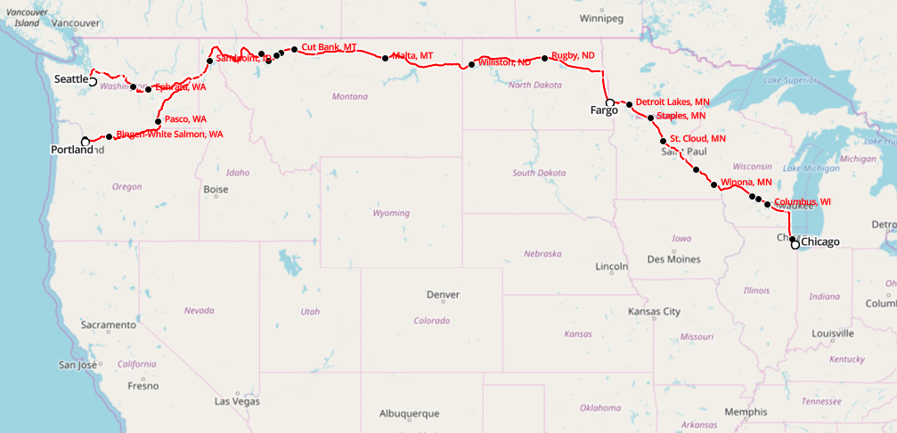 Riding The Amtrak Empire Builder Across The US Review Travel Tips - Amtrak map of routes in us