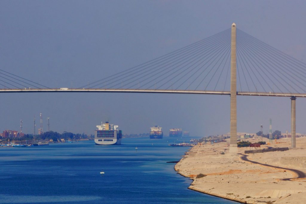 transiting the Suez Canal