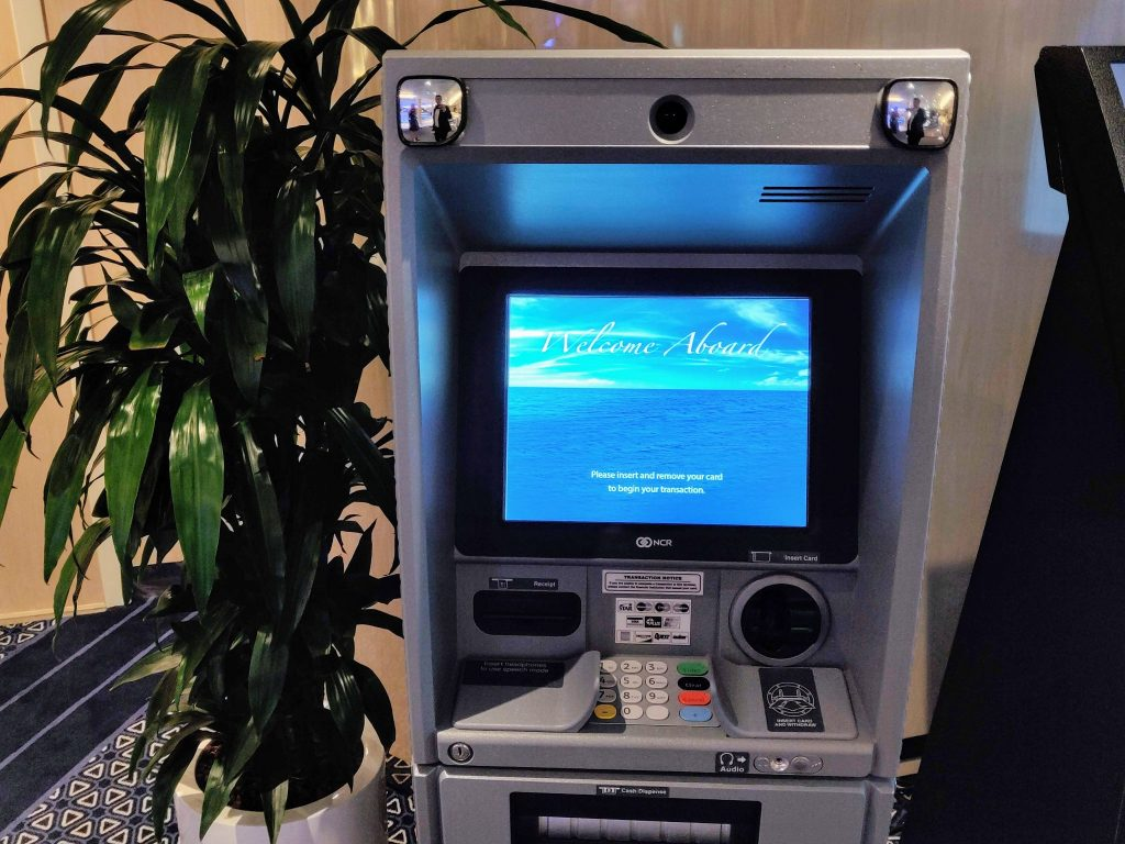 ATM machine on a cruise ship