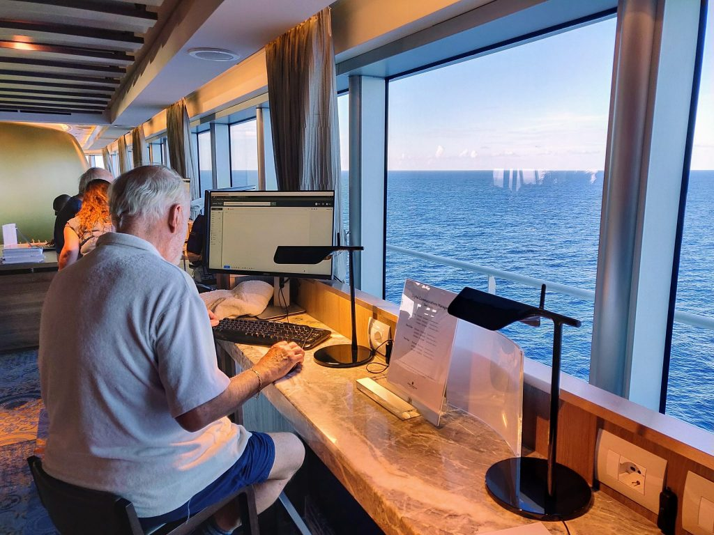 cruise wifi at sea