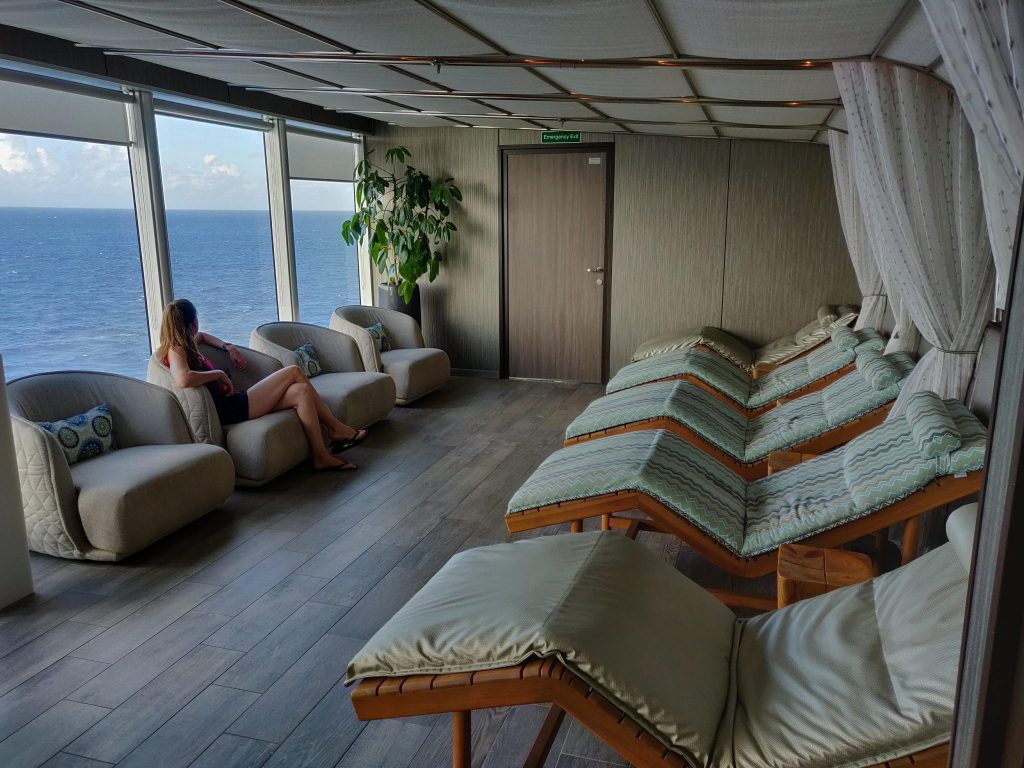 secret empty space on Holland America cruise away from any crowds