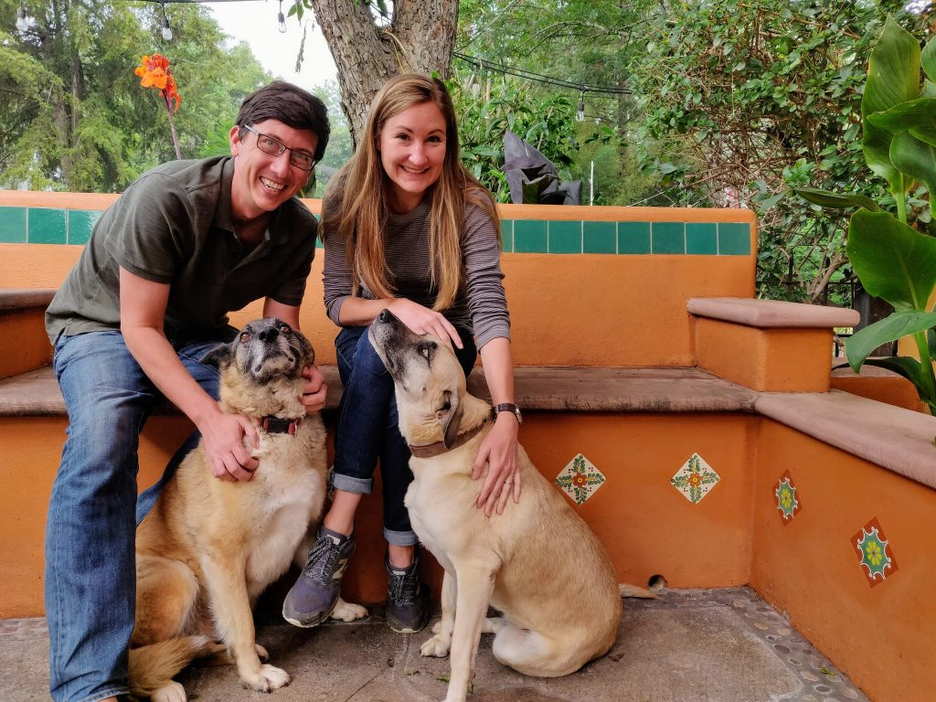 John & Heather with dogs