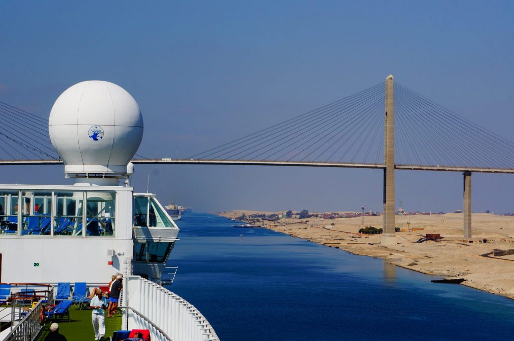 Repositioning cruise through Suez Canal