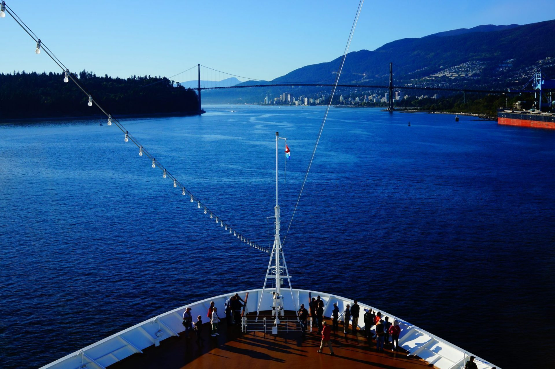 Departing Vancouver on transpacific Cruise, our first cheap world cruise segment