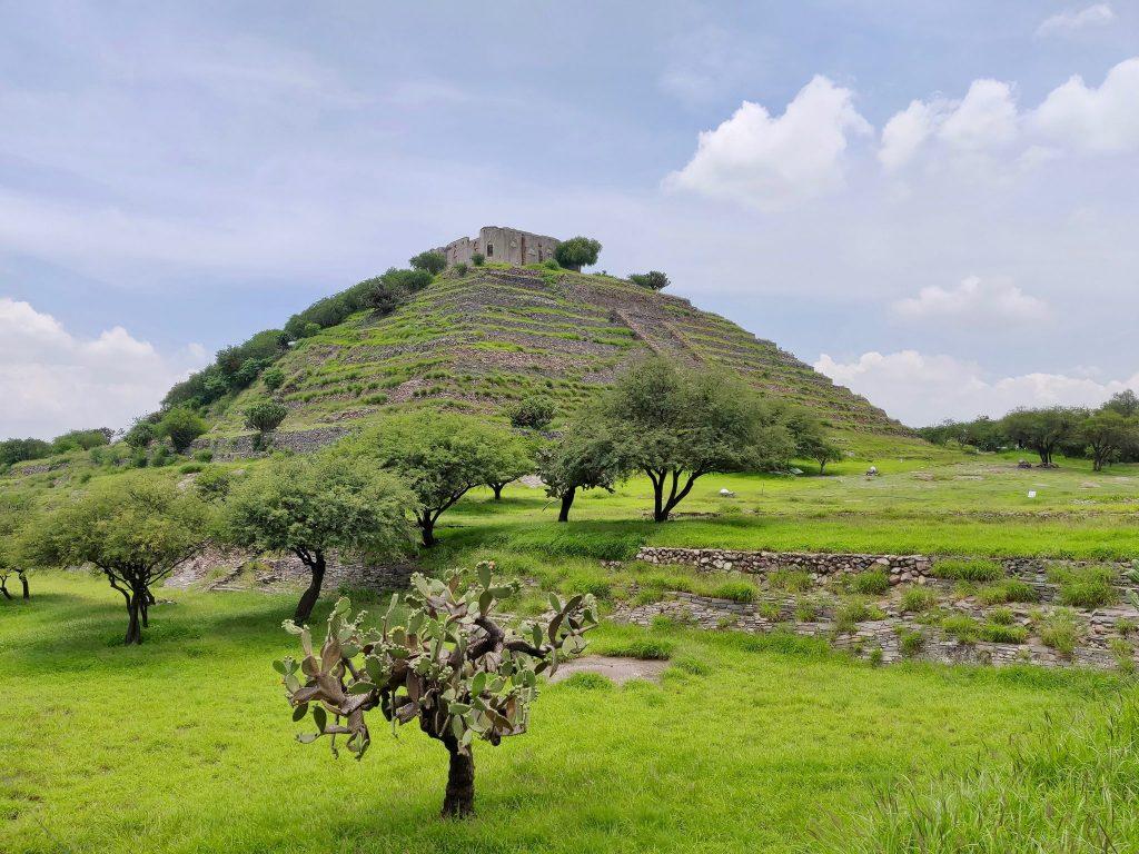 El Cerrito pyramid in Queretaro Mexico