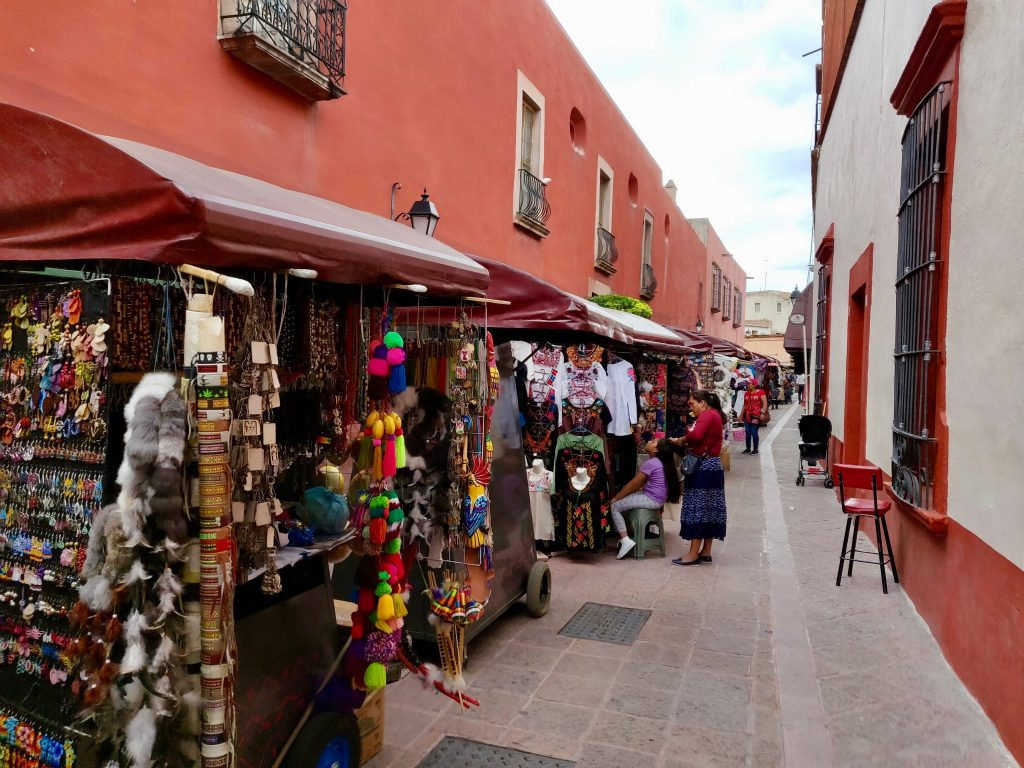 Shopping for crafts in Queretaro Mexico