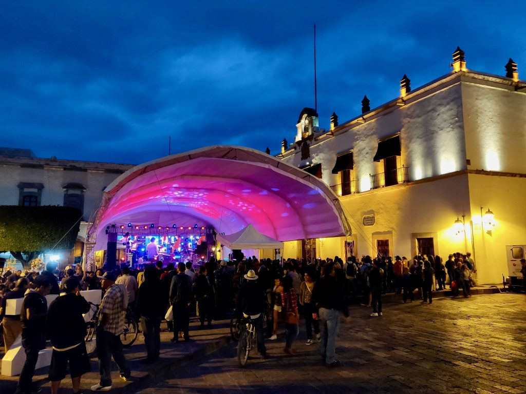 Queretaro Jazz Festival concert showing one of the many annual events in Queretaro