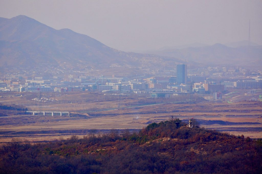 Kaesong North Korea as seen from the Dora Observatory