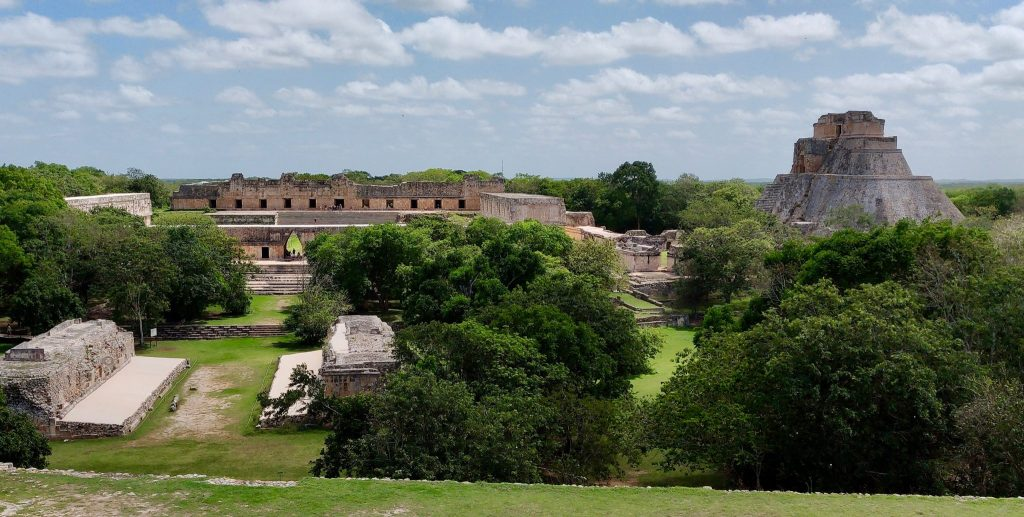 Uxmal ruins from above