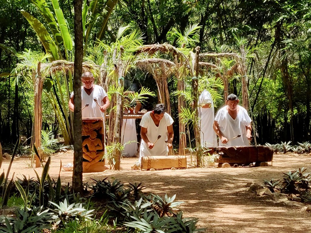 Mayan ceremony at Choco-Story museum