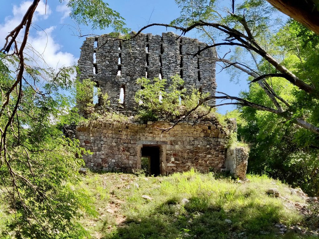El Mirador is a crumbling Mayan ruin structure at Sayil along the Ruta Puuc