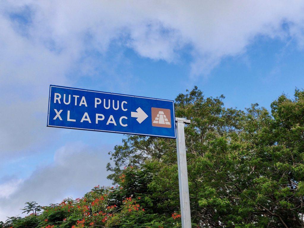 Ruta Puuc sign