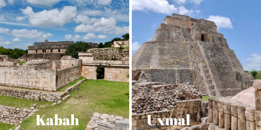 Kabah and Uxmal ruins