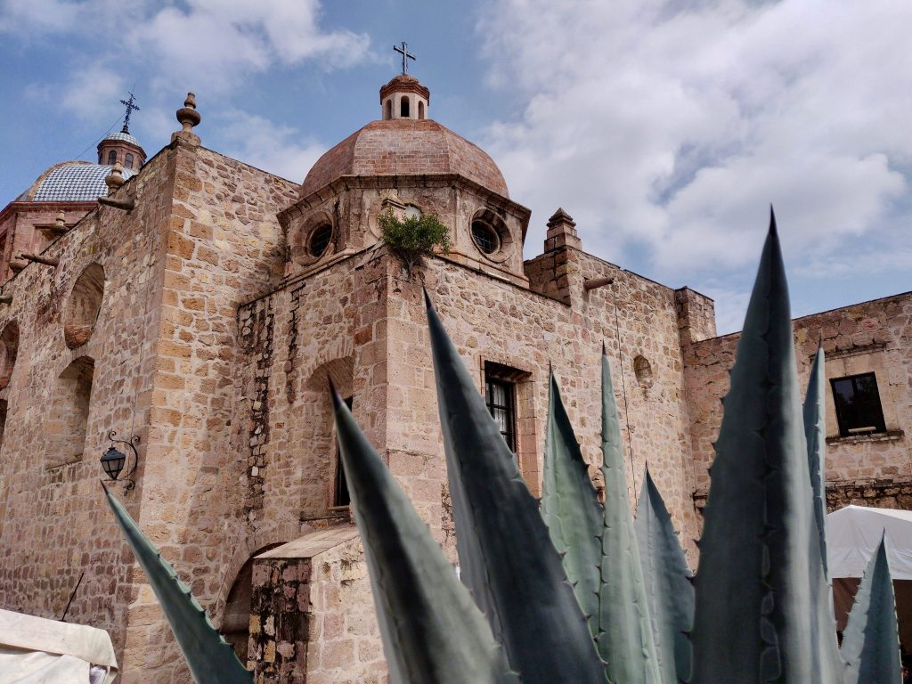 Templo del Carmen church in Morelia Mexico
