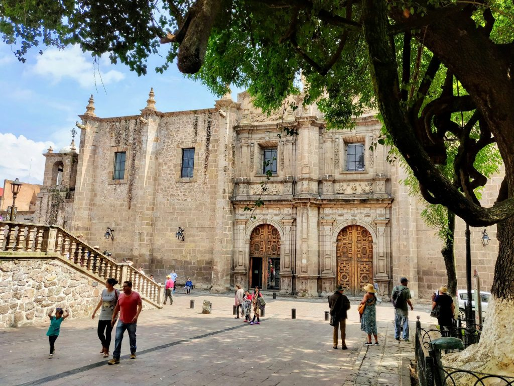 Temple of the Roses church in Morelia, Mexico