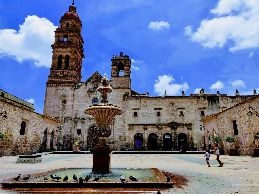 Templo de San Francisco church in Morelia Mexico