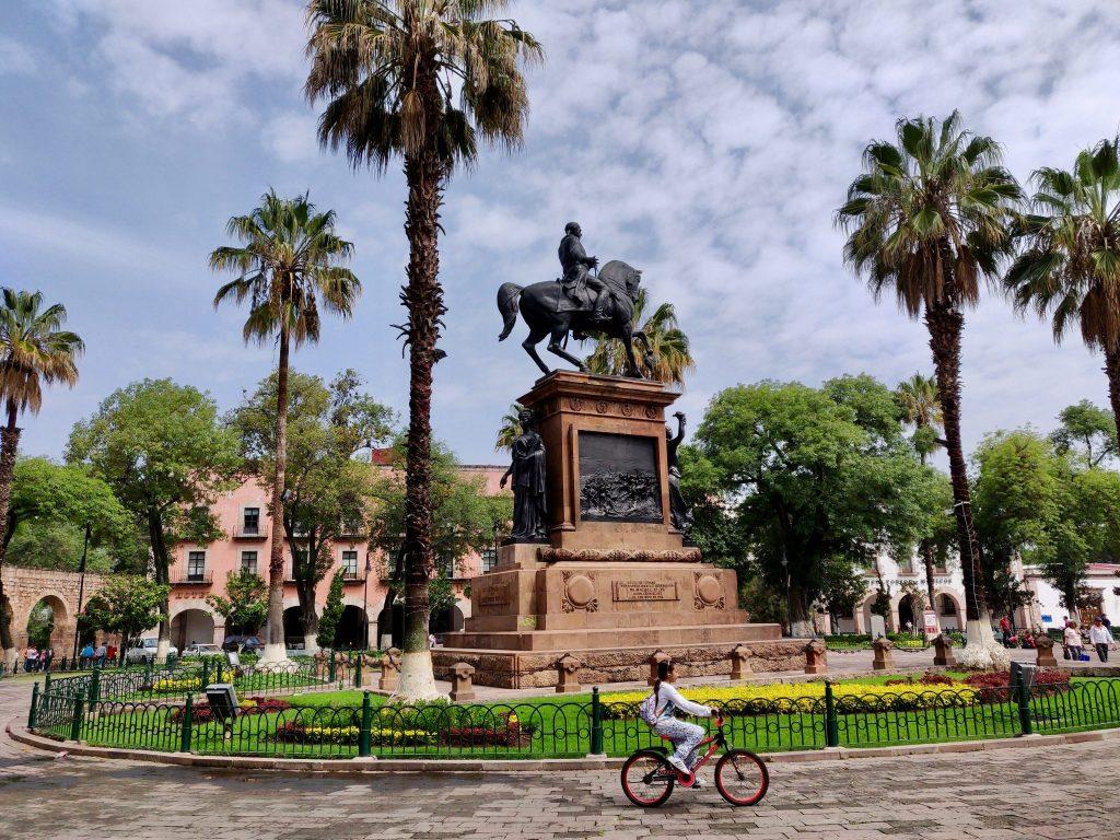 Plaza Morelos in Morelia Mexico