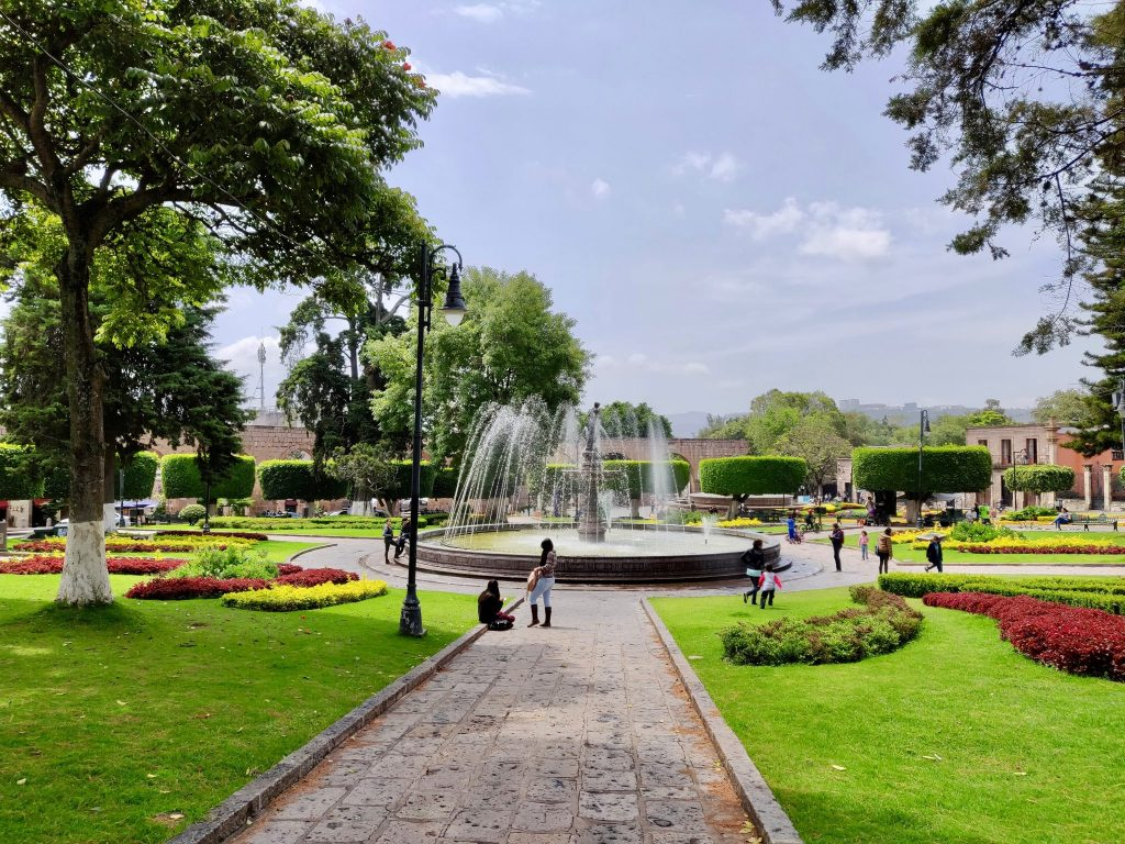 Plaza in Morelia Mexico