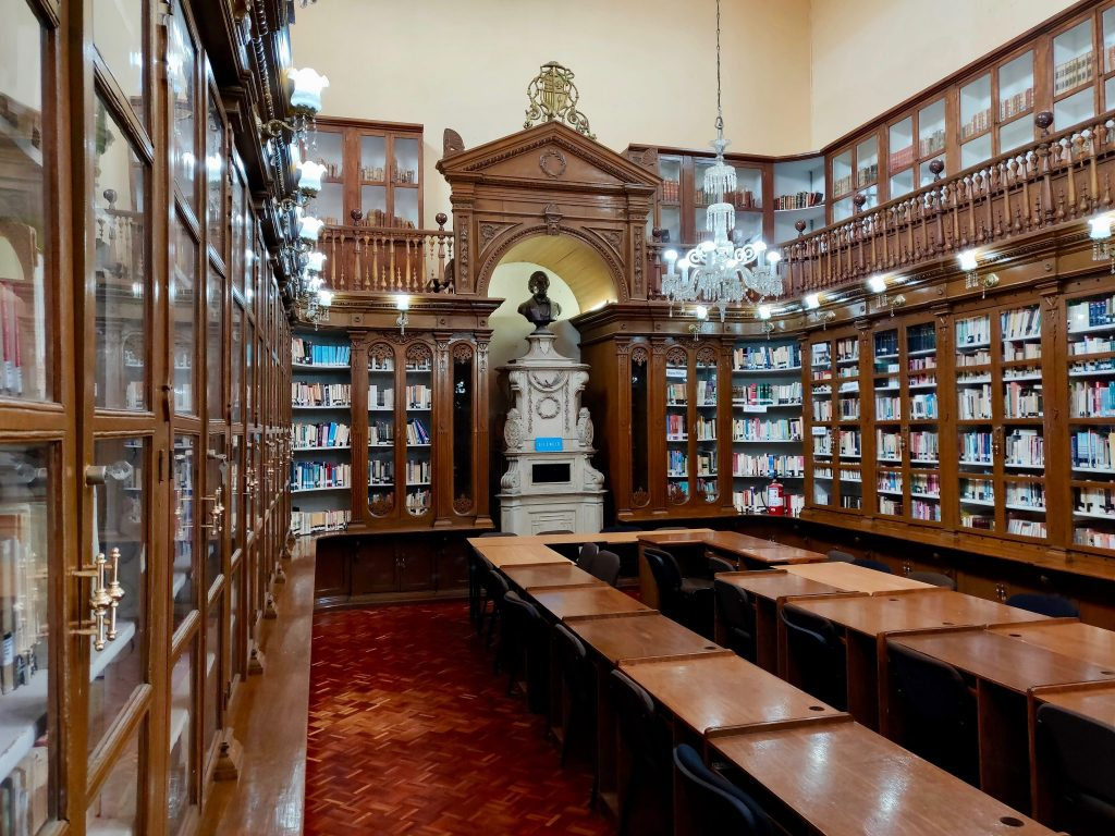 Public Library of the Michoacan University in Morelia, Mexico