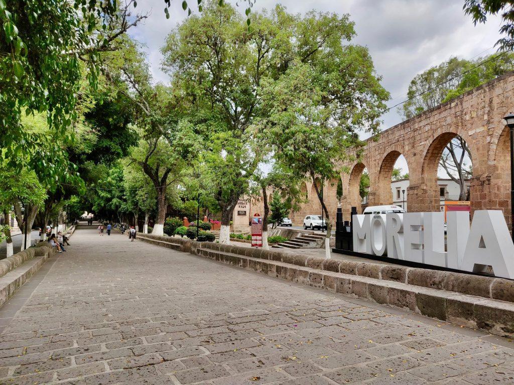 Calzada de Fray Antonio de San Miguel walkway in Morelia Mexico