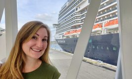 Heather and the Holland America Koningsdam cruise ship