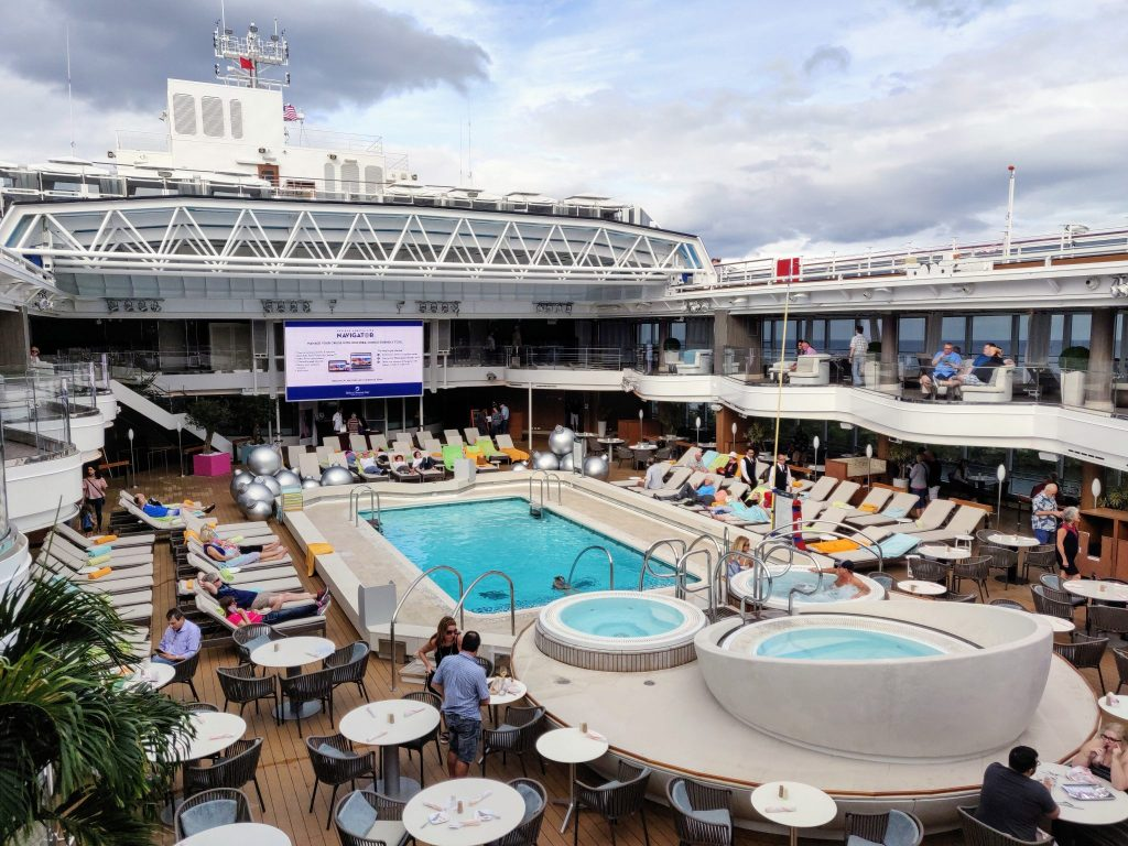 Pool of Holland America Koningsdam cruise ship