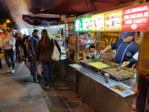 Parque Navarro street food in La Floresta