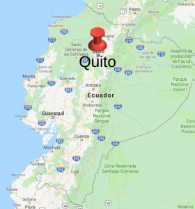 Quito location on map of Ecuador