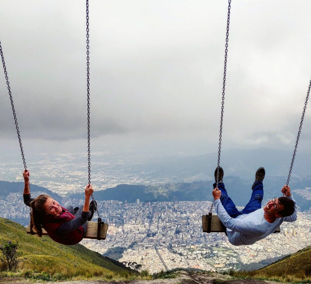 Swing over Quito Ecuador