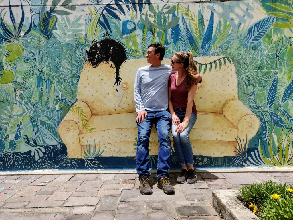 couch street art in La Floresta Quito Ecuador