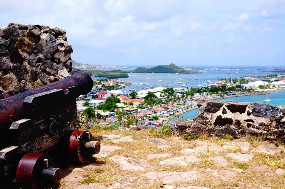 St Maarten canon overlooking bay