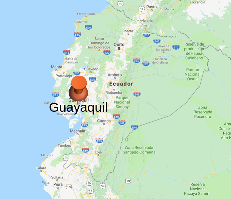 Guayaquil location on map