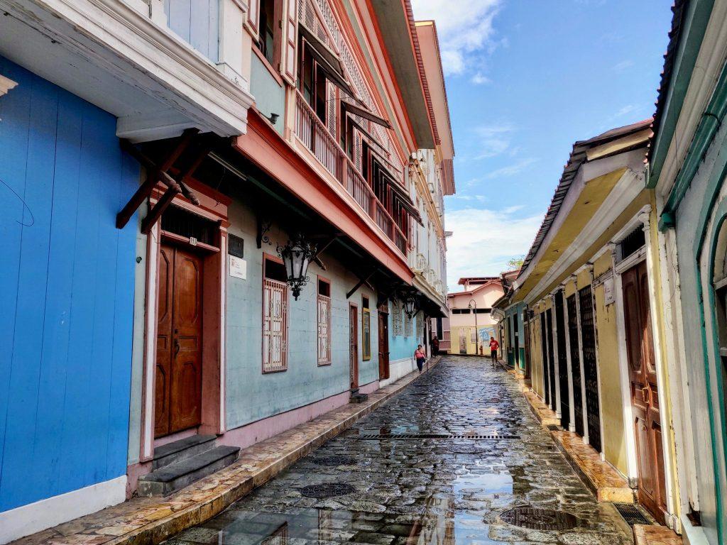 Numa Pompilio Llona street in Guayaquil Ecuador