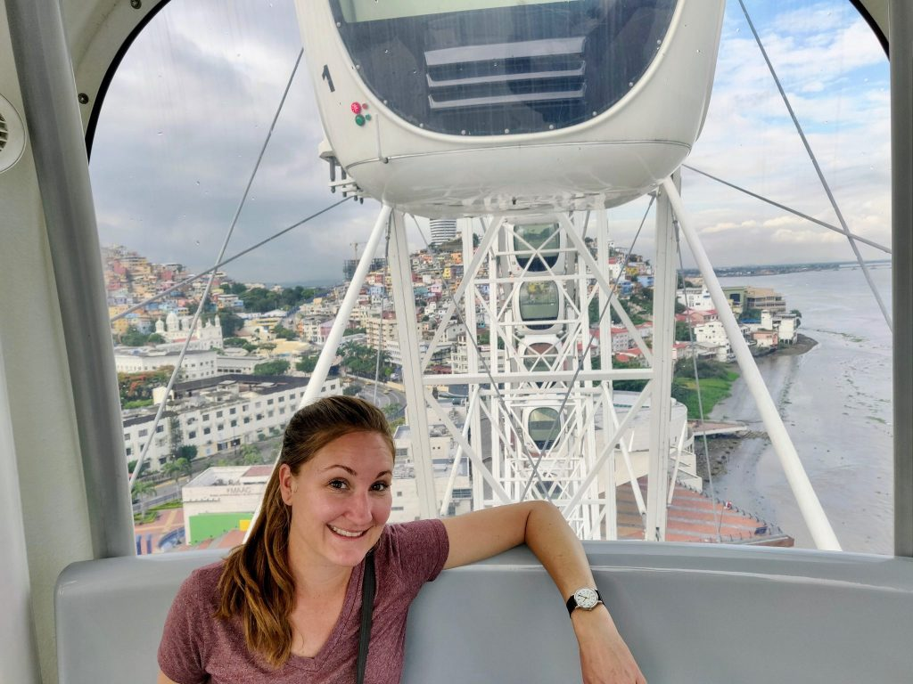 Riding in La Perla pod in Guayaquil