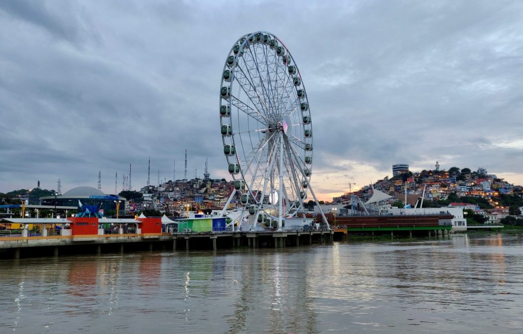 Guayaquil Malecon and ferris wheel