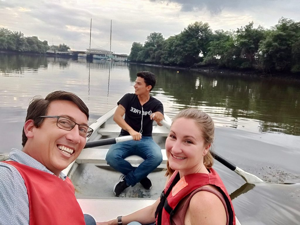 Rowboating around Salado Estuary in Guayaquil Ecuador