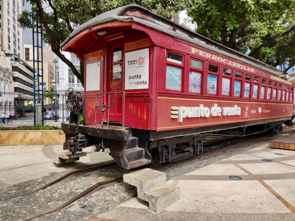Antique train car in Guayaquil
