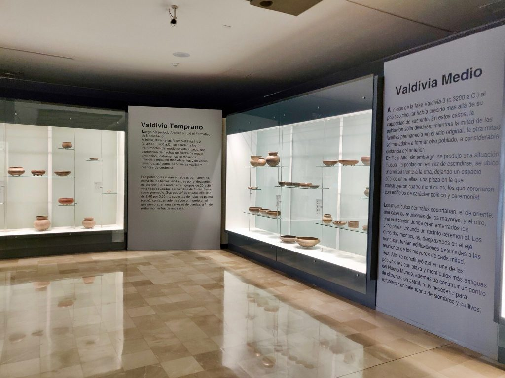 MAAC archeology exhibits of pottery