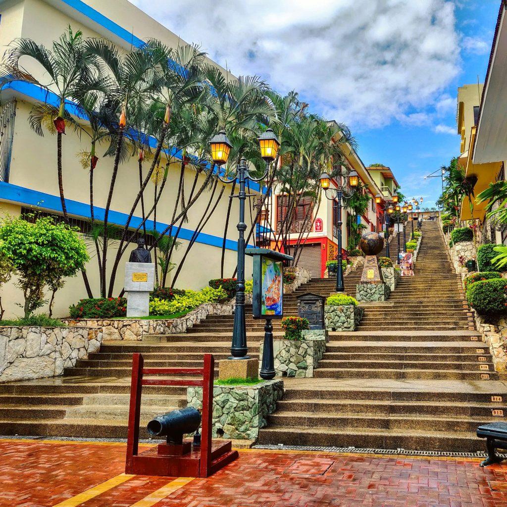 Stairs leading up Cerro Santa Ana in Guayaquil Ecuador