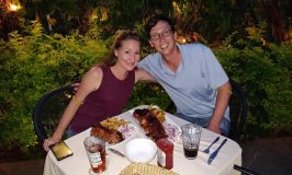 John and Heather dining out in Mexico