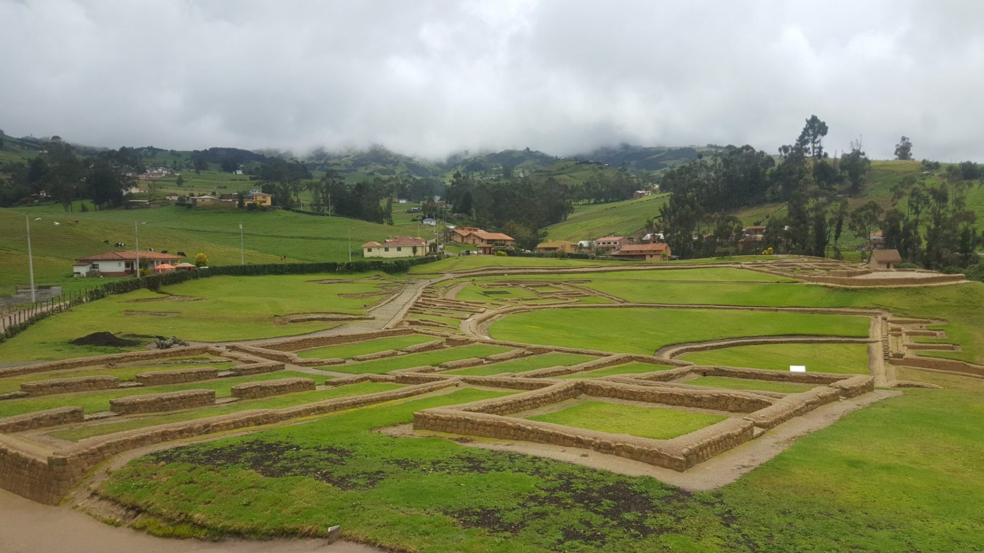 stone terraces of the Ingapirca ruins in Ecuador