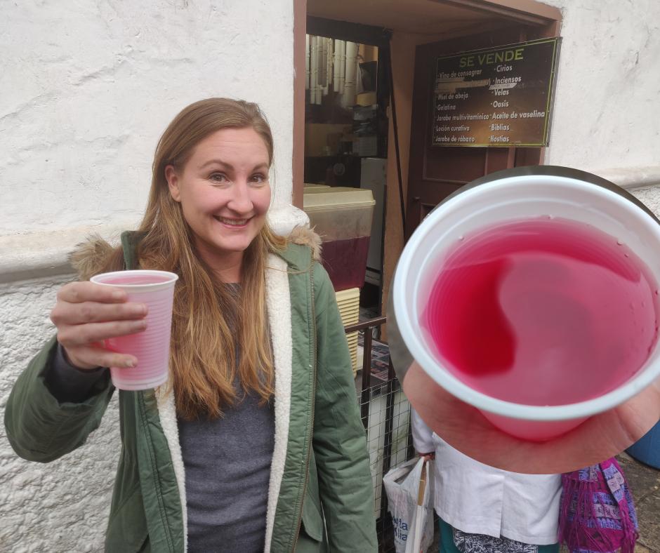 Drinking Agua de Pitimas Cuenca Ecuador